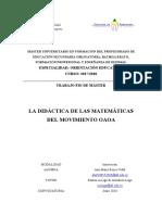La didactica de las matematicas del movimiento OAOA.