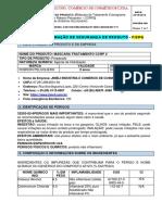 FISPQ - CRONOGRAMA CAPILAR CCRP 2  MASCARA PORT