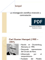 Hempel- La investigación científica   HFCI