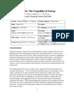 Geopolitics of Energy Syllabus 2009