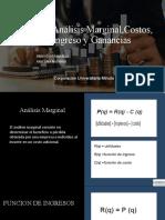 analisis marginal,costos, ingresos y ganancias cindy