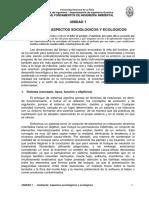 UNIDAD 1 - AMBIENTE - ASPECTOS SOCIOLOGICOS Y ECOLOGICOS