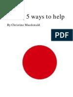 Japan 5 ways to help