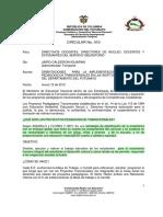 Circular 10 - Orientaciones Proyectos Pedagogicos Transversales 2012