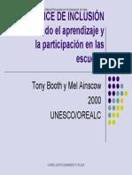 02 Booth,T., Ainscow. Índice de inclusión. Desarrollando el aprendizaje-Mi planeación de clase