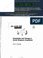 Perestroika and Change in Soviet Weapons Acquisition
