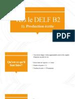 Vers le DELF B2 - Production écrite