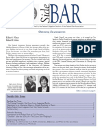 SideBAR • Published by the Federal Litigation Section of the Federal Bar Association (Winter 2011)