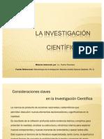 Consideraciones Claves en Investigacion