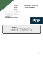 Loi Portant Code Du Travail