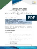 Guia de actividades y Rúbrica de evaluación - Fase 6 - Realizar una aplicación como Proyecto final con las temáticas del curso