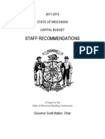 Wisconsin Capital Budget Staff Recommendations, March 2011