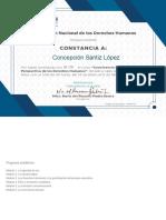 Concepción CEPDH_Constancia Curso Convivencia Escolar