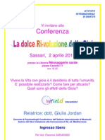 Conferenza Ss La Dolce Ri-Voluzione Della Gioia Apr 2011