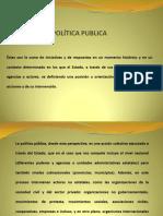 Política publica y desarrollo rural