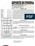 Reporte 9 Guaros - Gigantes