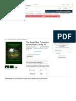 The Greek New Testament According to Family 35 _ Amazon.com.br