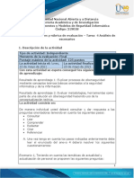 Guía de actividades y rúbrica de evaluación - Tarea 4 - Análisis de escenarios