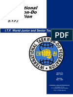 ITF Official Rules of Competition (Tkd-itf)