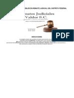 Remates Judiciales en el Distrito Federal