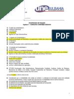 Exercícios de Fixação I - Capítulo 1 CONCEITOS CONTÁBEIS BÁSICOS - gabarito