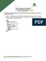 LLP - 03 - Estruturas de Controle - Lista de Exercícios 01 - Respostas