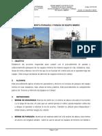 PARQUEO) Y PARADA DE EQUIPO MINERO
