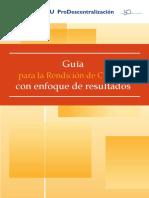 Guía Para La Rendicion de Cuentas Con Enfoque de Resultados