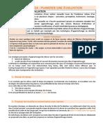 Partie 9. Planifier Une Evaluation