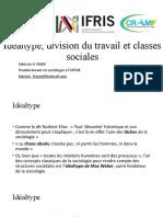 2 Idéaltype, division du travail et classes sociales (1)