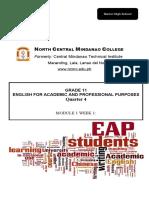 EAPP Module 4th Quarter Week 1
