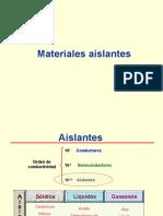 Presentación 4.- Materiales Aislantes