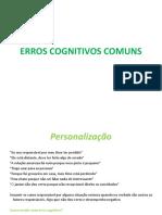 Erros cognitivos