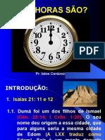 Sermão - Que Horas São