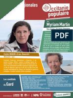 Liste gardoise Occitanie populaire