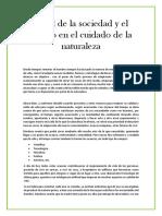 El rol de la sociedad y el Estado en el cuidado de la naturaleza (MICRO ENSAYO)