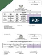 1 - Horario para a retoma das aulas(Covid-19) do Curso de Portugues - 1 Semestre - 2020