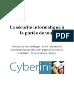 Securite Informatique Cybersecurite Cybe