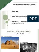 Aula 01 - Conceitos Básicos e Fundamentos em Projetos
