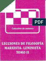 Lecciones de Filosofía Marxista Tomo 2
