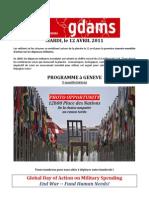 GDAMS Programme a Geneve