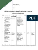 Proiectarea Activitatilor Cu Parintii Clasa a 1-3 A