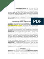 Acta Constitutiva Panaderia Pasteleria y Charcuteria