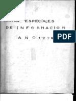 Partes Especiales de Informacion Ano 1976