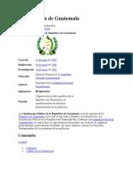 Constitución de Guatemala y su historia