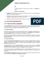1. Cultura y diseño organizacional