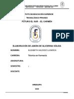 Elaboración de jabón de glicerina sólida