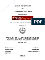 Project Report on risk factors in capital market