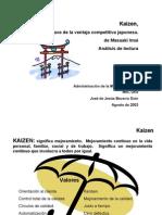 KAIZEN (La clave de la ventaja competitiva japonesa.de MasaakiImaiAnálisis de lectura)