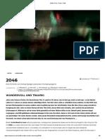 2046 _ Film, Trailer, Kritik